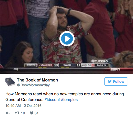 #LDSconf On Display – Best Tweets from General Conference
