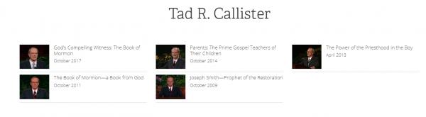 tad callister