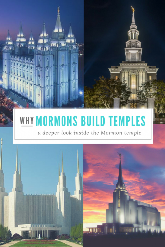 why do mormons build temples