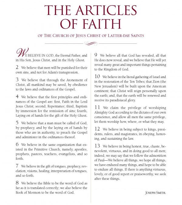 60 Beliefs Of The Church Of Jesus Christ Of Latter-day