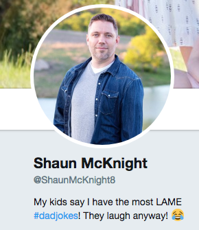 Shaun McKnight dad jokes
