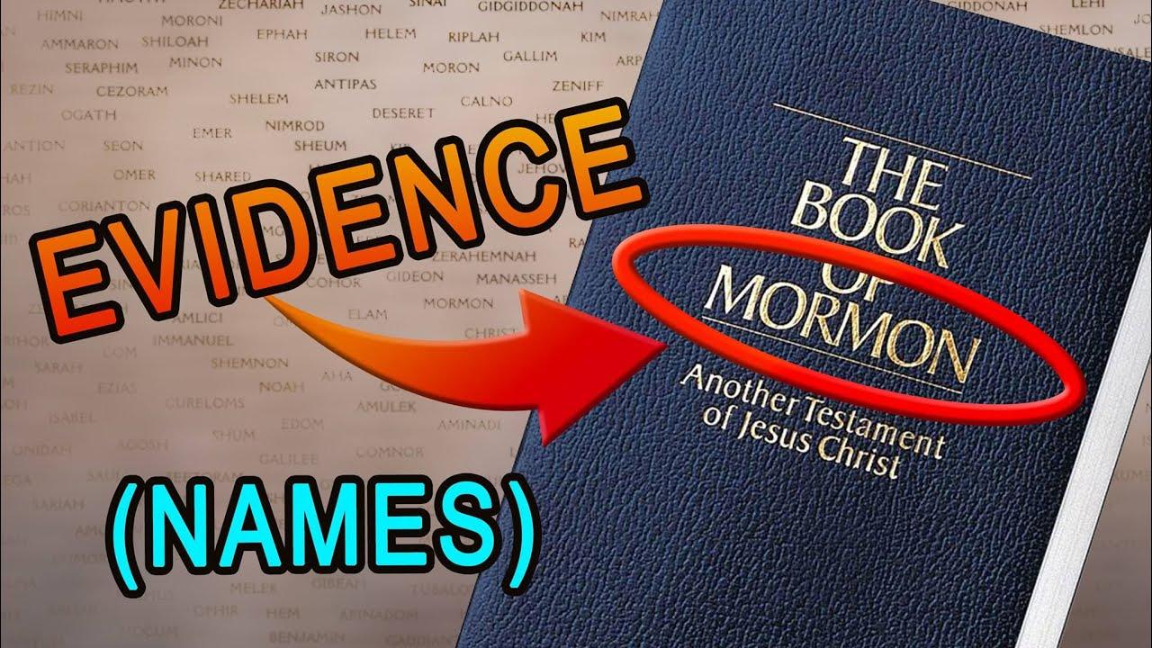 book of mormon names evidences