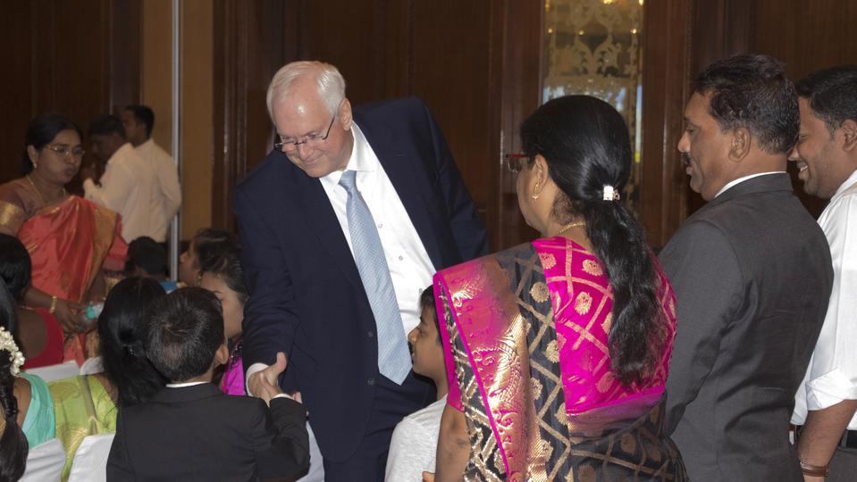 elder ballard first visit to india