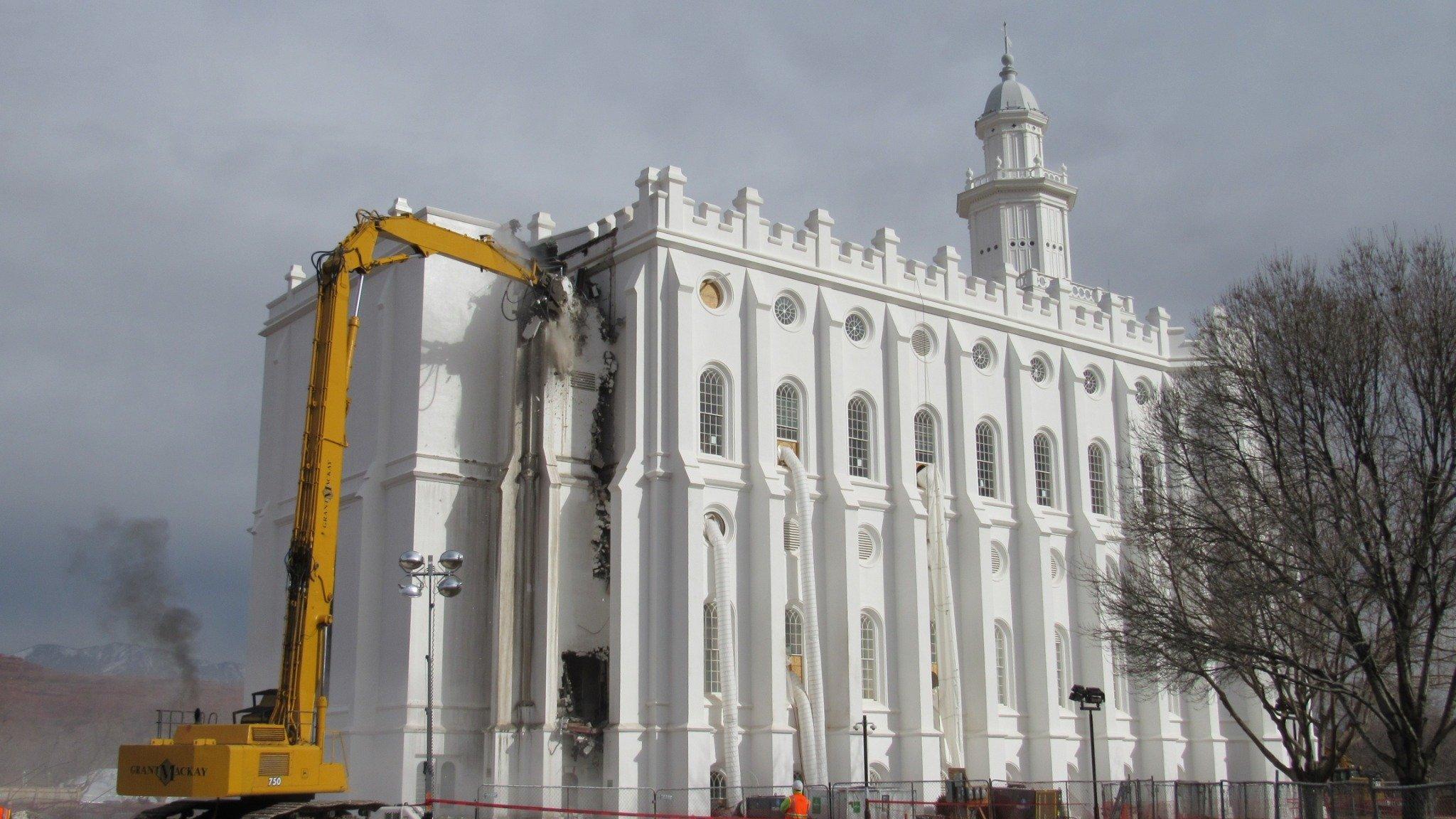 Renovation Work Underway on St. George Utah Temple