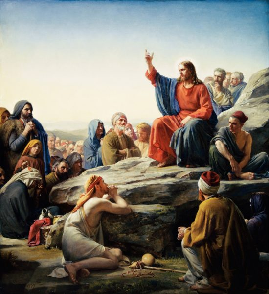 """Sermon on the Mount,"" by Carl Heinrich Bloch"