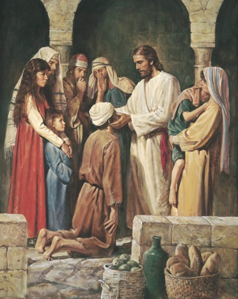 """""""Christ Healing a Blind Man,"""" by Del Parson"""