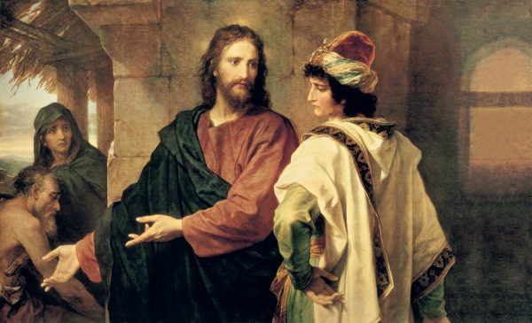 """""""Christ and the Rich Young Ruler,"""" by Heinrich Hofmann"""