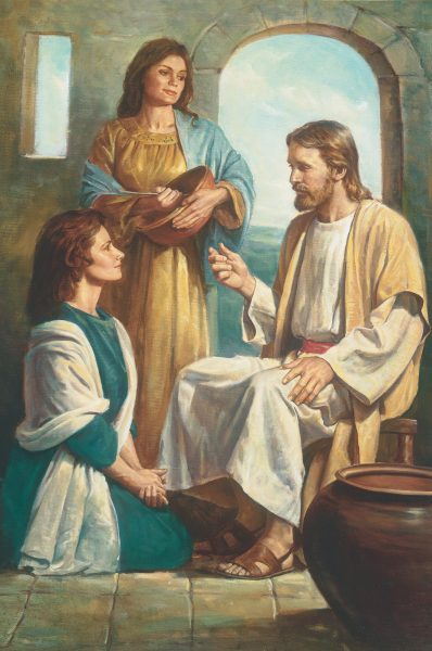 """""""Christ with Mary and Martha,"""" by Del Parson"""