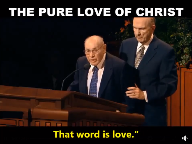 One of the Most Powerful Moments in General Conference | Love by Example (Elder Wirthlin and Nelson)